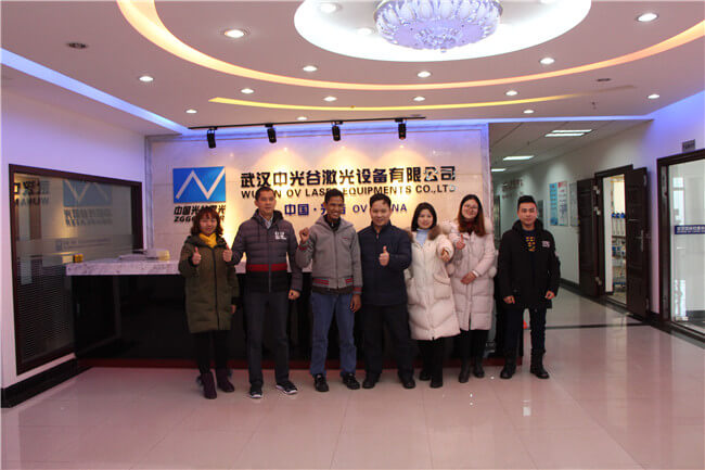 Indonesian customers visit OVLaser factory to negotiate business and order equipment!