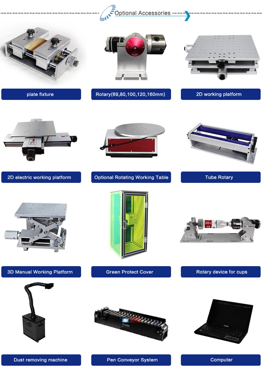 Classical Portable Split Fiber laser Marking Machine 30W for Metal Engraving and Jewelry Cutting