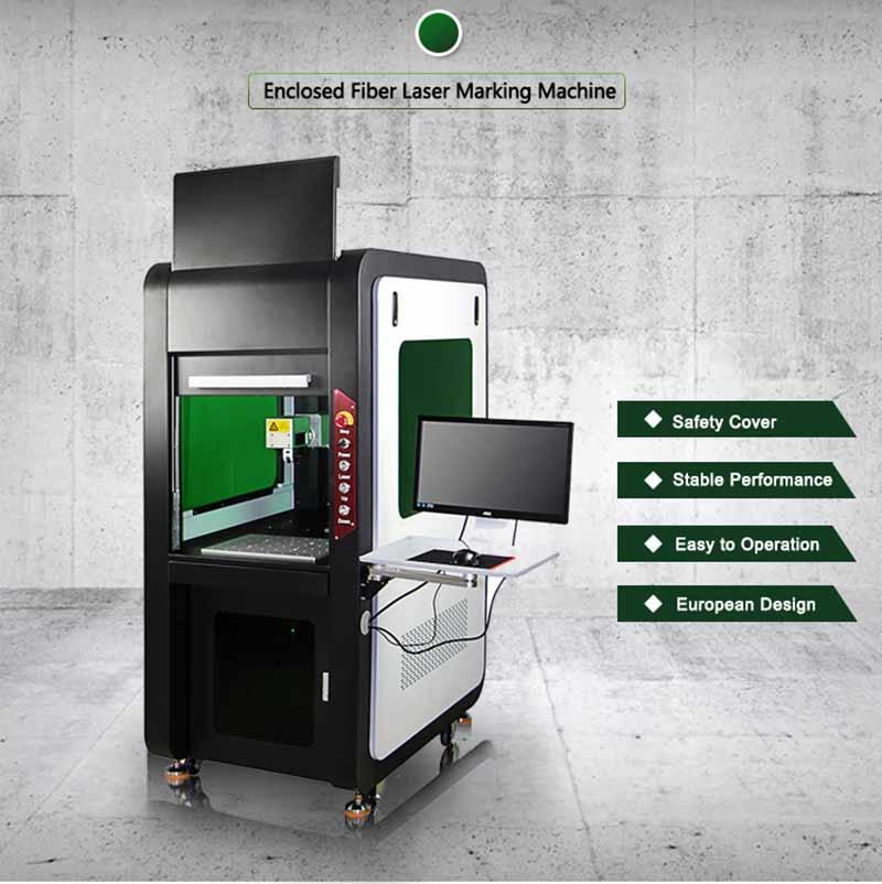 Raycus planar fixture 20w 30w 50w closed   laser marking machine  laser engraving machine