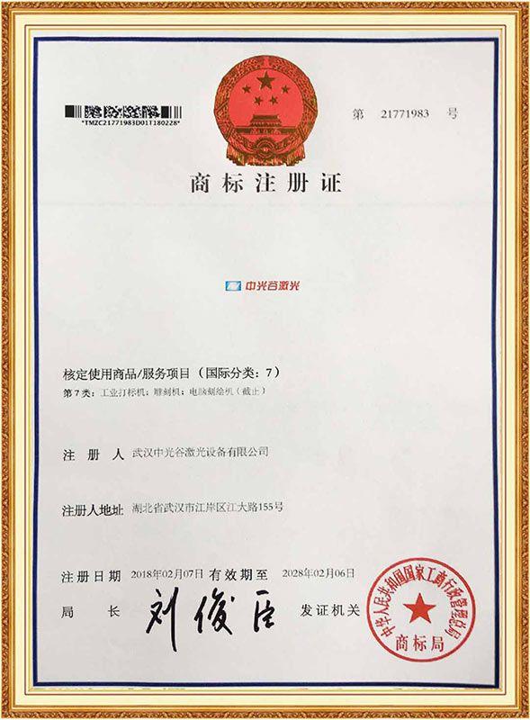 Trademark registration certificate5