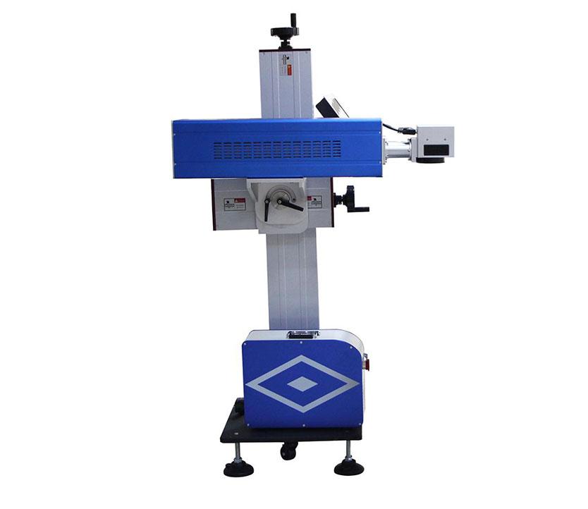 High Speed Flying Adjustable CO2 Laser Marking Coding Equipment for Bottle Wood Metal Electronics