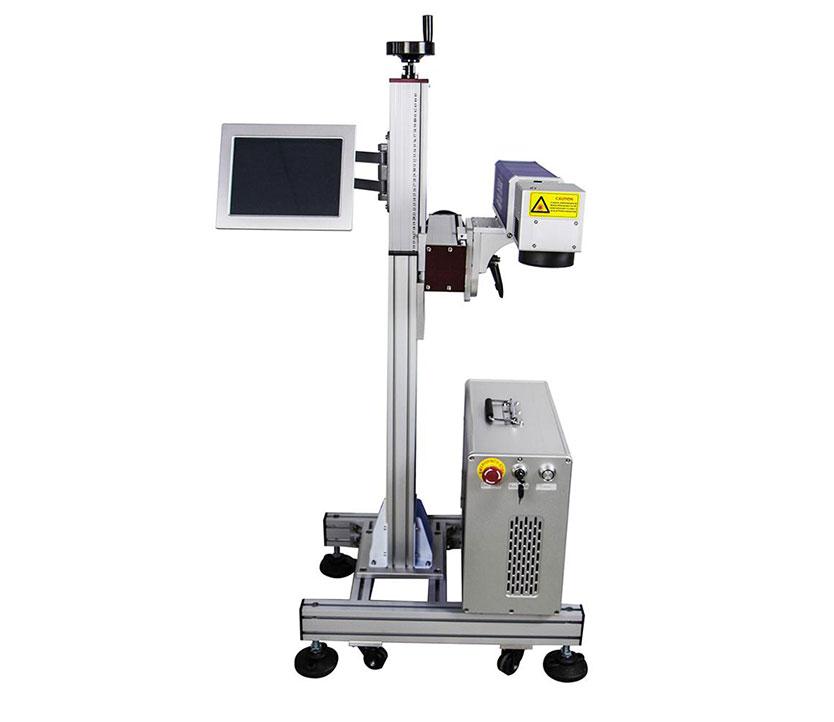 20W Adjustable  Fiber Laser Marking Machine Fiber Flying Laser Engraver