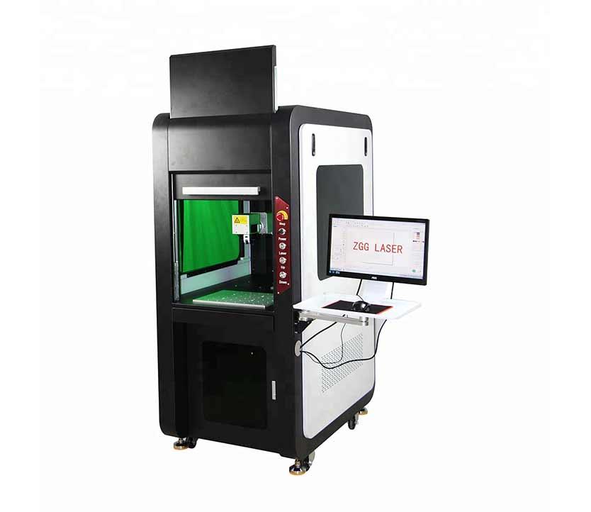 Large Enclosed type 20W 30W CE Air cooling fiber laser marking machine