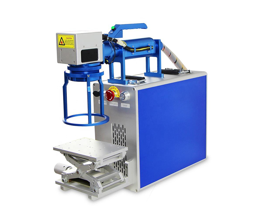 Handheld portable fiber laser engraving machine with metal frame 30w 50w 100w