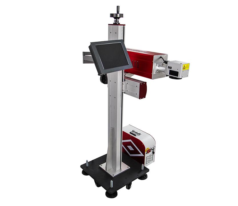 Adjustable CO2 laser marking machine for plastic bottles