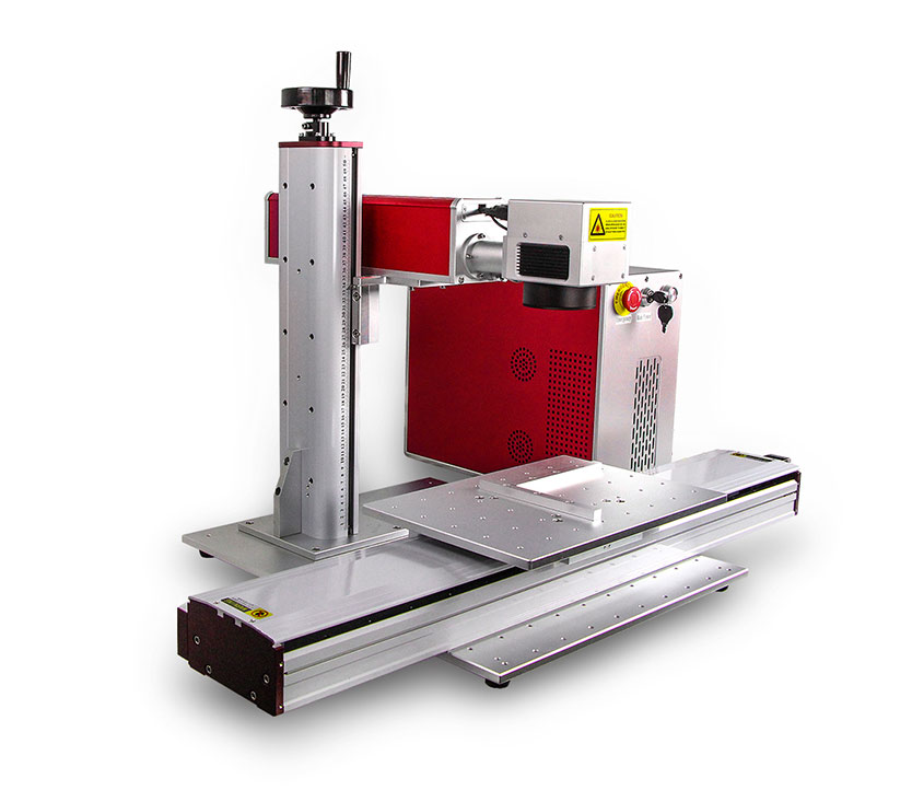 50W CNC Fiber  Laser Marking  Machine for Brass SS Aluminum Gold Silver Metal