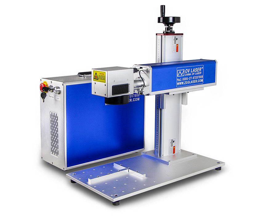 20W 30W 60W deep engraving mopa color ipg jpt metal steel 3d fiber laser marking machine