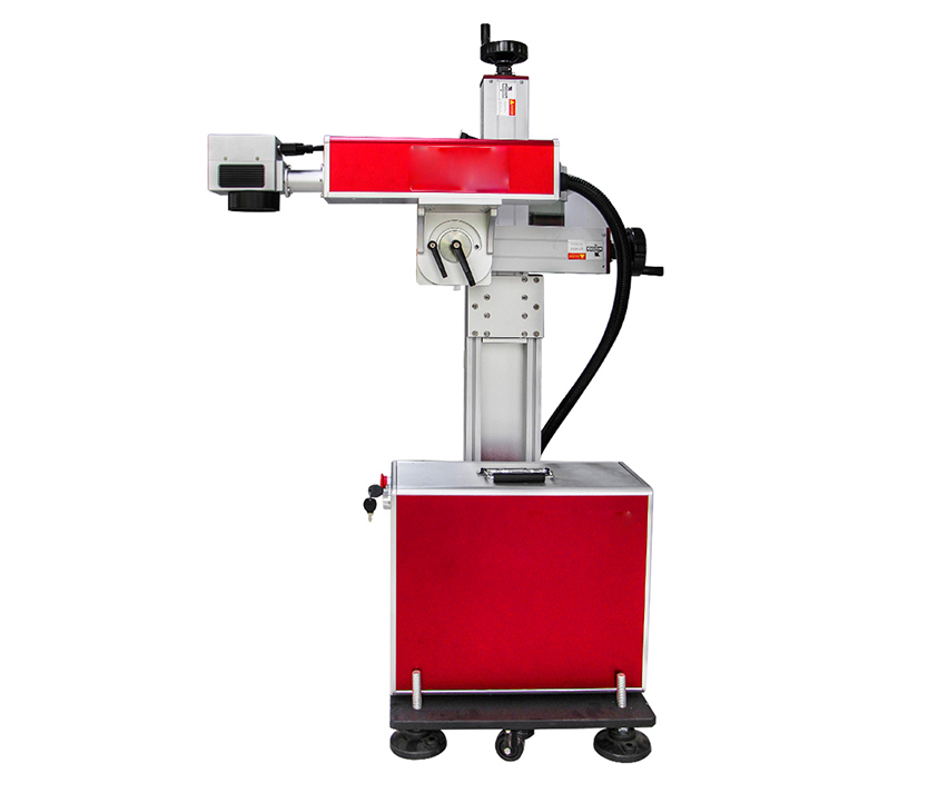 20W Production Line Flying Online Fiber Laser ABS PVC PU Marking Machine