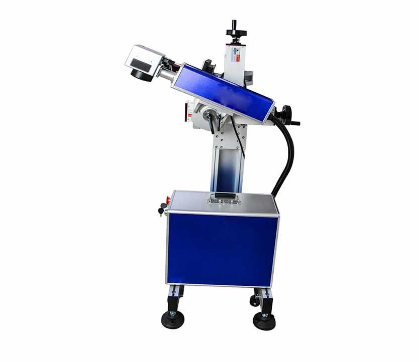 20w Adjustable Fiber Laser Marking Machine For Printing Expiration Date on metal food packages