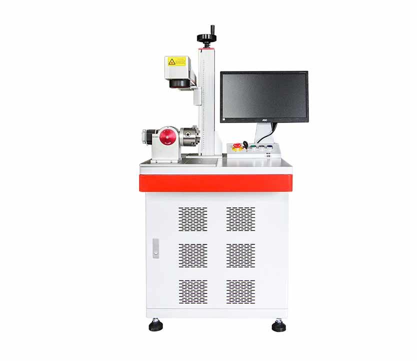 JPT / IPG / Raycus Fiber Metal Laser Marking Machine with Rotary Fixture 50mm 69mm 80mm 100mm 120mm 160mm 200mm 300mm