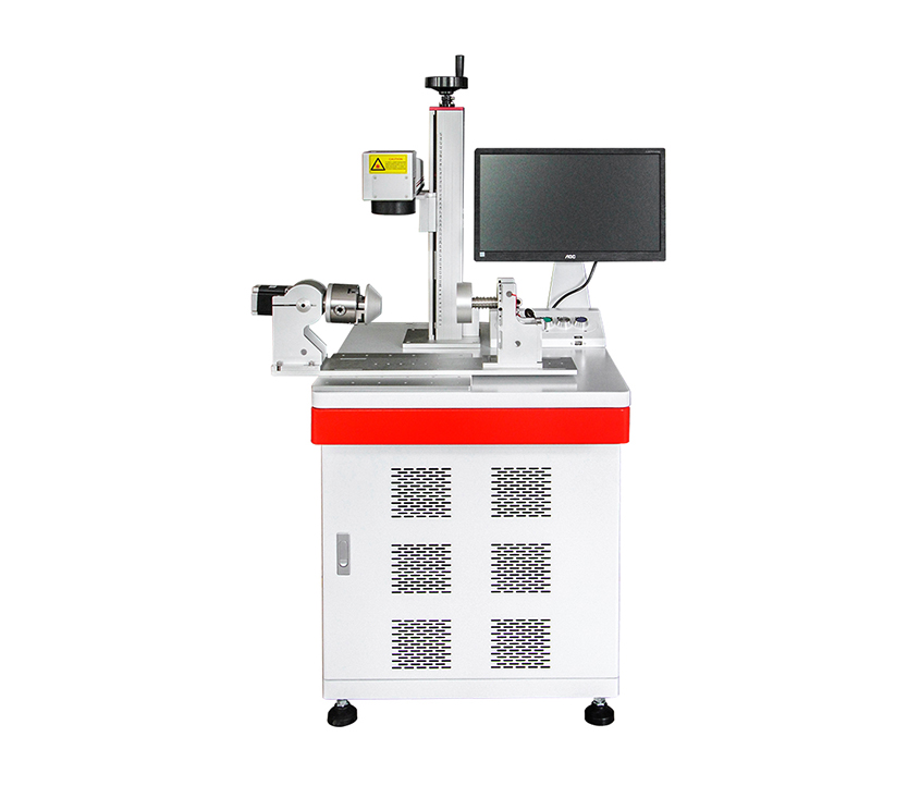 20w 30w 50w  fiber laser Marking  Machine with cup rotary for stainless steel cup marking